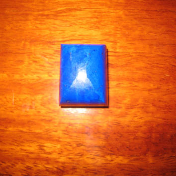 lapis lazuli royal blue 90 carats square rectangle cube pakistan pakistani natural hunza jewelry, worldwide shipping, untreated rock, afghan