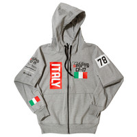 Club Foreign Sports Italy Series Hoodie Slim Fit Grey