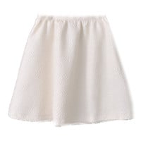 White Embossed Midi Flared Skirt - Petite | Goodnight Macaroon