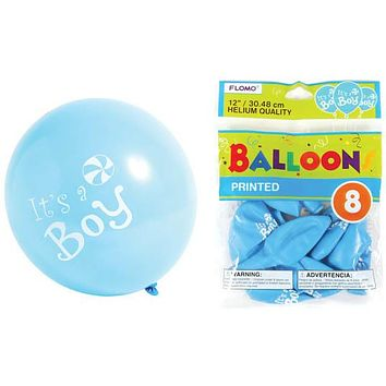 """12 in. """"""""It's a Boy"""""""" Printed Balloons Case Pack 36"""