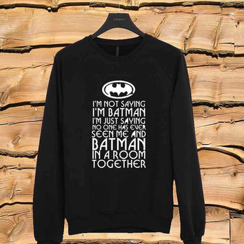 Batman sweater Sweatshirt Crewneck Men or Women Unisex Size
