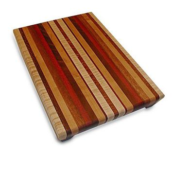 Handmade Large Wood Cutting Board - The Perfect Gift Her - Bloodwood & Mahogany