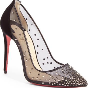 Christian Louboutin Follies Strass Pointy Toe Pump | Nordstrom