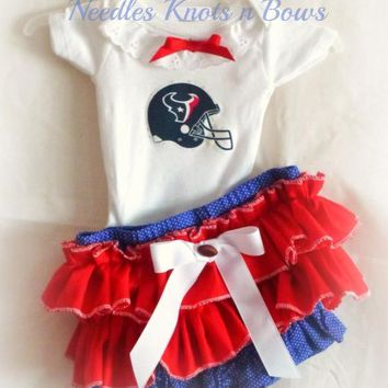Girls Houston Texans Cheerleader Outfit, Baby Girls Football Outfit