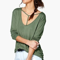 Gracie Strappy Harness Detail Oversized Tee