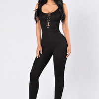 Life Of Nova Jumpsuit - Black