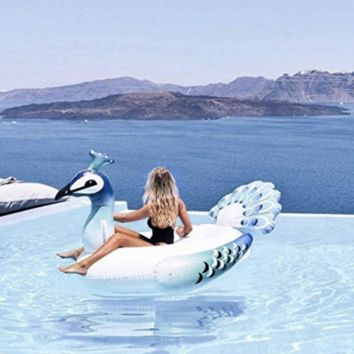 Giant Peacock Pool Float Inflatable