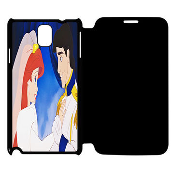 The Little Princess Disney Princess Ariel And Eric Married Samsung Galaxy Note 4 Flip Case Cover