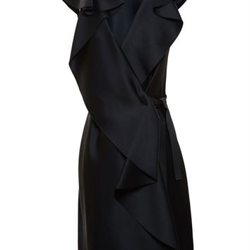 Satin Wrap Dress - LANVIN