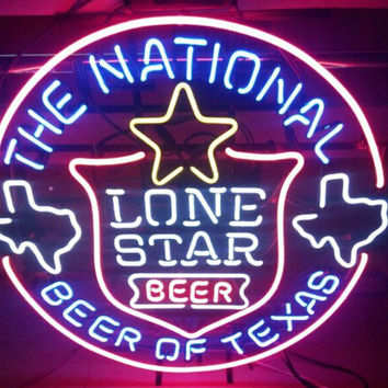 The National Lone Star Beer Beer Of Texas Neon Sign Real Neon Light