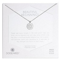 Dogeared Beautiful Beginnings Lotus Pendant Necklace | Nordstrom