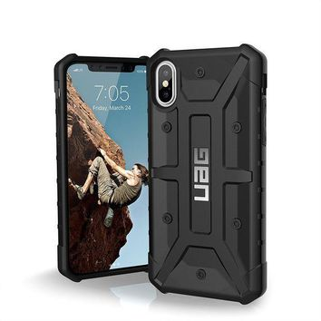 CREYRQ5 UAG iPhone X Pathfinder Feather-Light Rugged [BLACK] Military Drop Tested iPhone Case