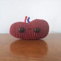 Stanley the Spleen Plushie - Crochet Amigurumi - Anatomy Plush Toy - Stuffed Spleen - Crocheted Organs - Funny Plushies - Organ Characters