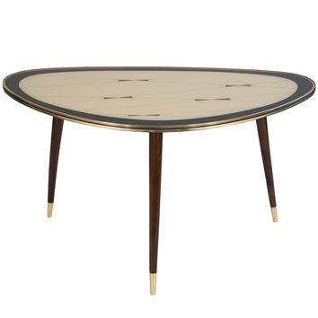 Brass Coffee Table, Very Rare Mid-Century Modern Design, German, 1950s