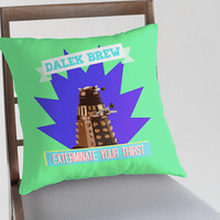 FREE WORLDWIDE SHIPPING - Doctor Who - Dalek Brew Pillow Cover