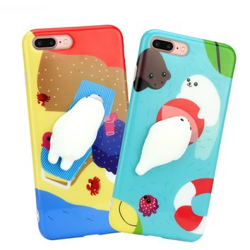 Squeeze Me Animals iPhone Case