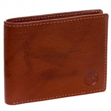 Timberland Brown Genuine Leather Colorado Passcase Wallet