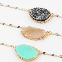 Druzy Pendant Necklaces