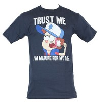 Gravity Falls Mens T-Shirt - Dipper Says Trust Me I'm Mature For My Age Image