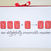 I love you Card - Girlfriend Card - Boyfriend Card - Geeky Card - Card For Wife -  Card For Husband - Anniversary Card - Periodic Table