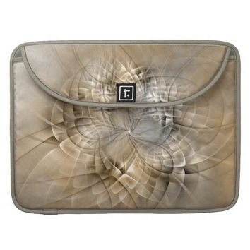 Earth Tones Abstract Modern Fractal Art Texture Sleeve For MacBooks