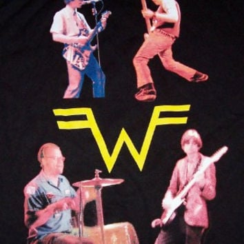 Weezer Long Sleeve T-Shirt 2001 Tour Black Size Large