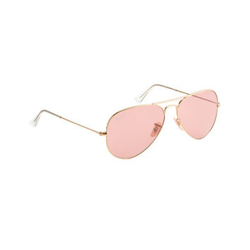 Ray-Ban® original aviator sunglasses with polarized pink lenses - accessories - Women's new arrivals - J.Crew