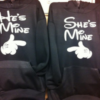 He's mine - she's mine hoodies - couples sweaters-