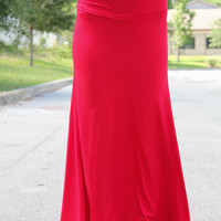 Feel Good Maxi Skirt – Red