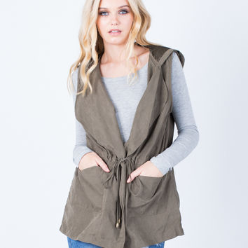 Hit the Town Hooded Vest - Large