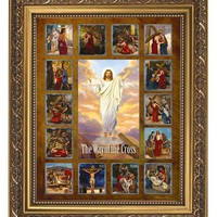 Stations of the Cross Framed Prints - Set of 15 Stations