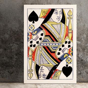 The Queen of Spades Poster - 1867 -  No Frame