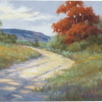 Whispers of Fall II Landscape Canvas Wall Art Print by Rose Hohenberger