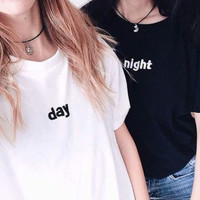 Best Friend Day and Night T-Shirt Set