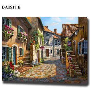 BAISITE Frameless DIY Painting By Numbers Hand Painted On Canvas Modern Wall Picture For Living Room Home Decor Wall Art H331