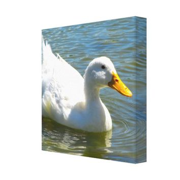White Duck Wrapped Canvas