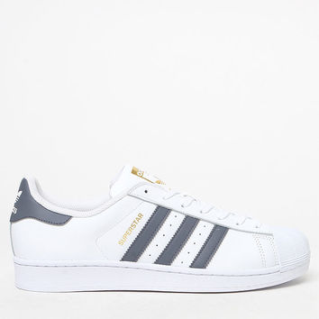 adidas Superstar White and Grey Shoes at PacSun.com