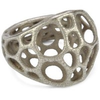 "Nervous System ""2-layer Center"" Stainless Steel Ring, Size 9"