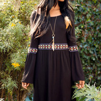 Tribal Print Bell Sleeve Dress