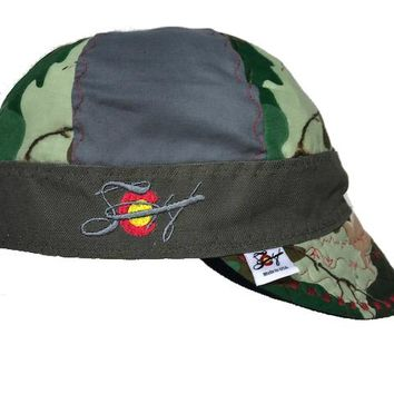 Camo Mixed Panel Size 7 Embroidered Hybrid Welding Cap