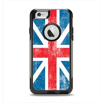 The Scratched Surface London England Flag Apple iPhone 6 Otterbox Commuter Case Skin Set