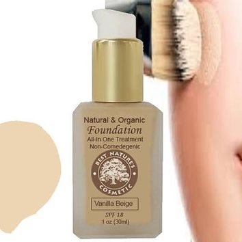 Liquid Foundation Natural Organic with Aloe,