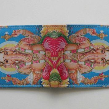 Mastoks Handcrafted Leather Wallet - Ganesha Ganesh Indian God