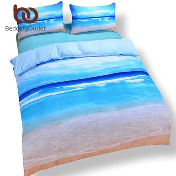 Cool BeddingOutlet Dropship Beach Ocean Home Textiles Hot 3D Print Duvet Cover with Pillowcase Bedding Set Queen King Home BedclothesAT_93_12