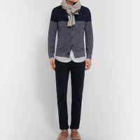 Brunello Cucinelli - Two-Tone Melange Cotton Cardigan