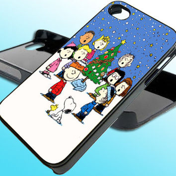 Charlie Brown Merry Christmas for iPhone 4/4s Case - iPhone 5 Case - Samsung S3 - Samsung S4 - Black - White (Option Please)