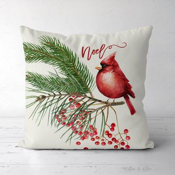 Decorative Square Throw Pillow - Noel Cardinal