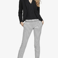 HORIZONTAL STRIPE COLUMNIST ANKLE PANT from EXPRESS