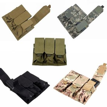 NEW Tactical Pouch Triple Pistol Magazine Pouch Holster Airsoft Military Paintball MAG Pouches Hunting Bag