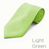 Light Green Wedding Tie and Hanky Set